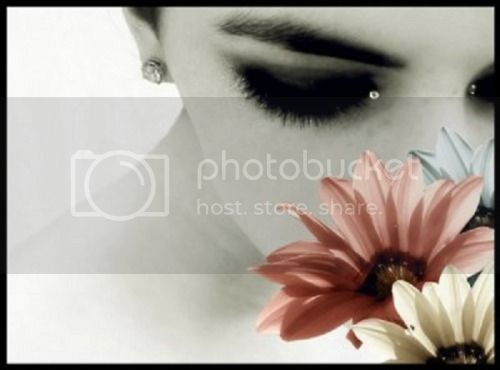 Girl Smelling Flowers-Color Splash Pictures, Images and Photos