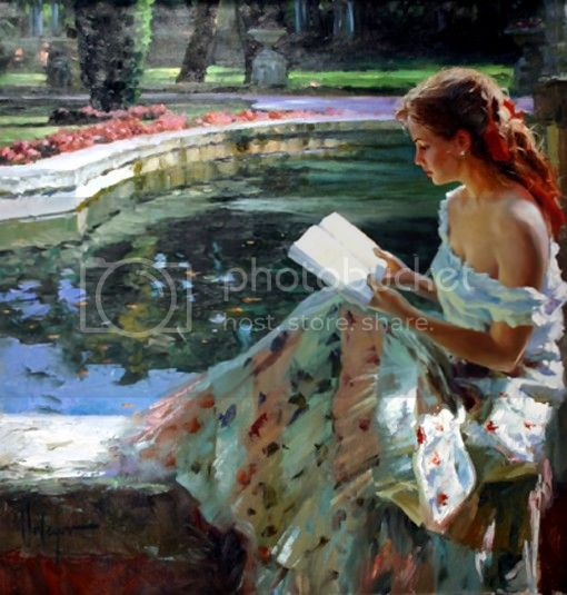 Lady Reading by Pool Pictures, Images and Photos